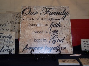 OUR FAMILY - A circle of strength and love, founded on faith, joined in love, kept by God.  Forever together.