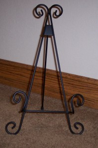 "Easel for 12"" and 6"" tiles - 3-legged style"
