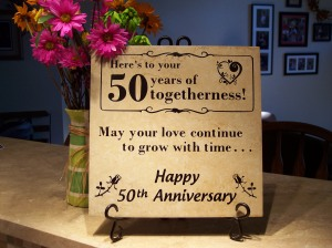 50th Wedding Anniversary tile