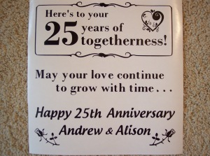 25th Wedding Anniversary - personalized